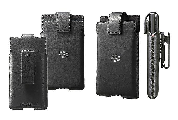 quality design 6c7ba eb8ae Original Blackberry Priv Premium Leather Belt Clip Swivel Pouch Case Cover  Holster For BlackBerry Priv - Black