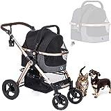 HPZ Pet Rover Prime 3-in-1 Luxury Dog/Cat/Pet Stroller (Travel Carrier +Car Seat +Stroller) with Detach Carrier/Pump…