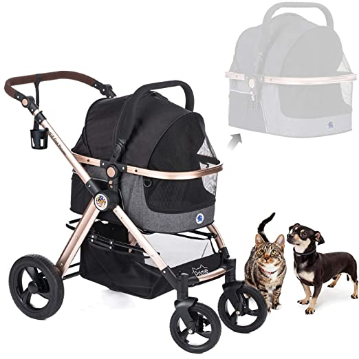 HPZ Pet Rover Prime 3-in-1 Luxury Dog/Cat/Pet Stroller - Best For Safety Features