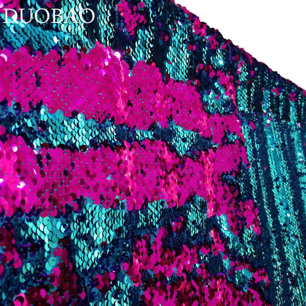 DUOBAO Sequin Backdrop 20FTx10FT Turquoise to Fuchsia Wedding Pics Backdrop Mermaid Reversible Sequin Photo Backdrop Baby Shower Curtains
