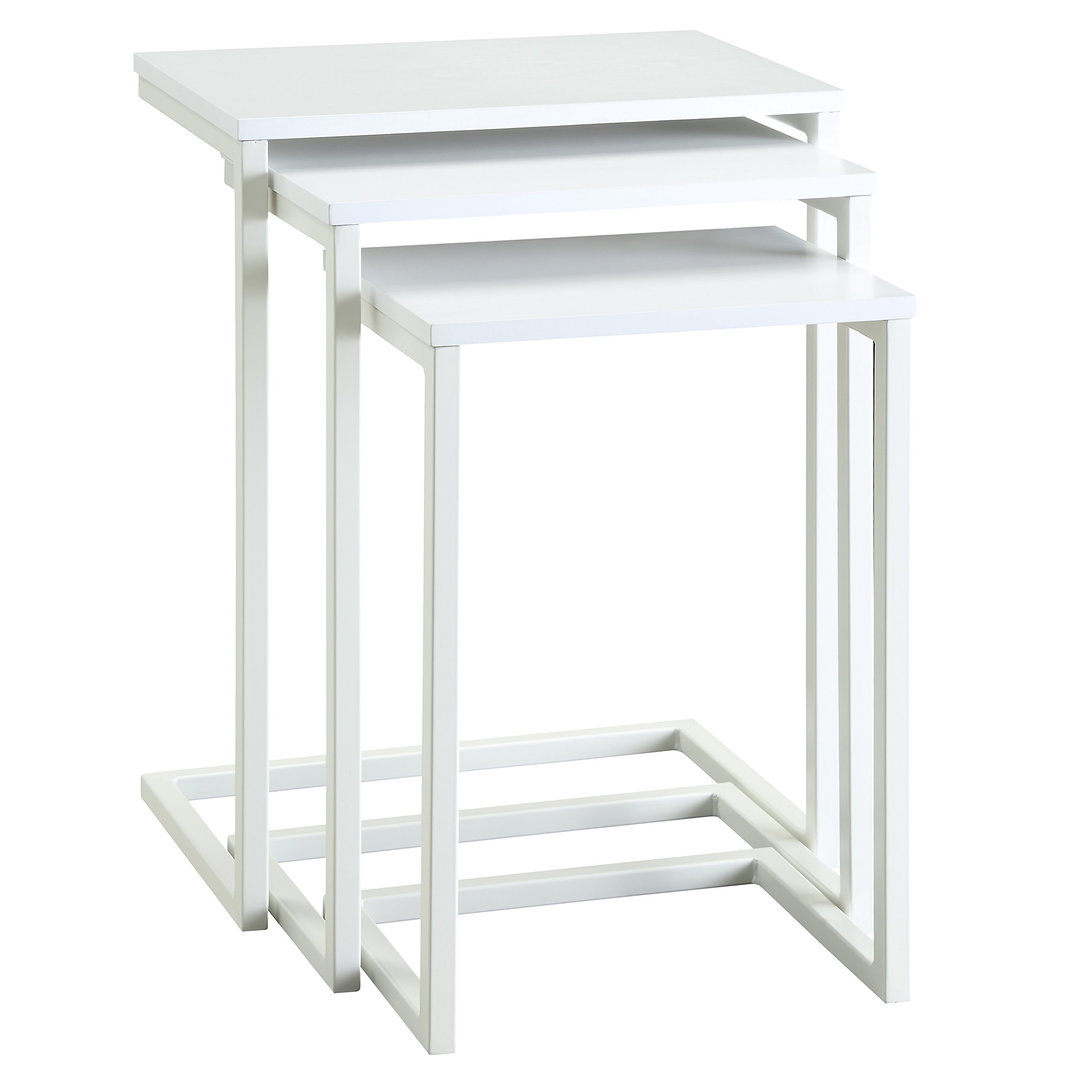 Carolina Chair and Table Madison Nesting Table Set, White by Carolina Chair & Table