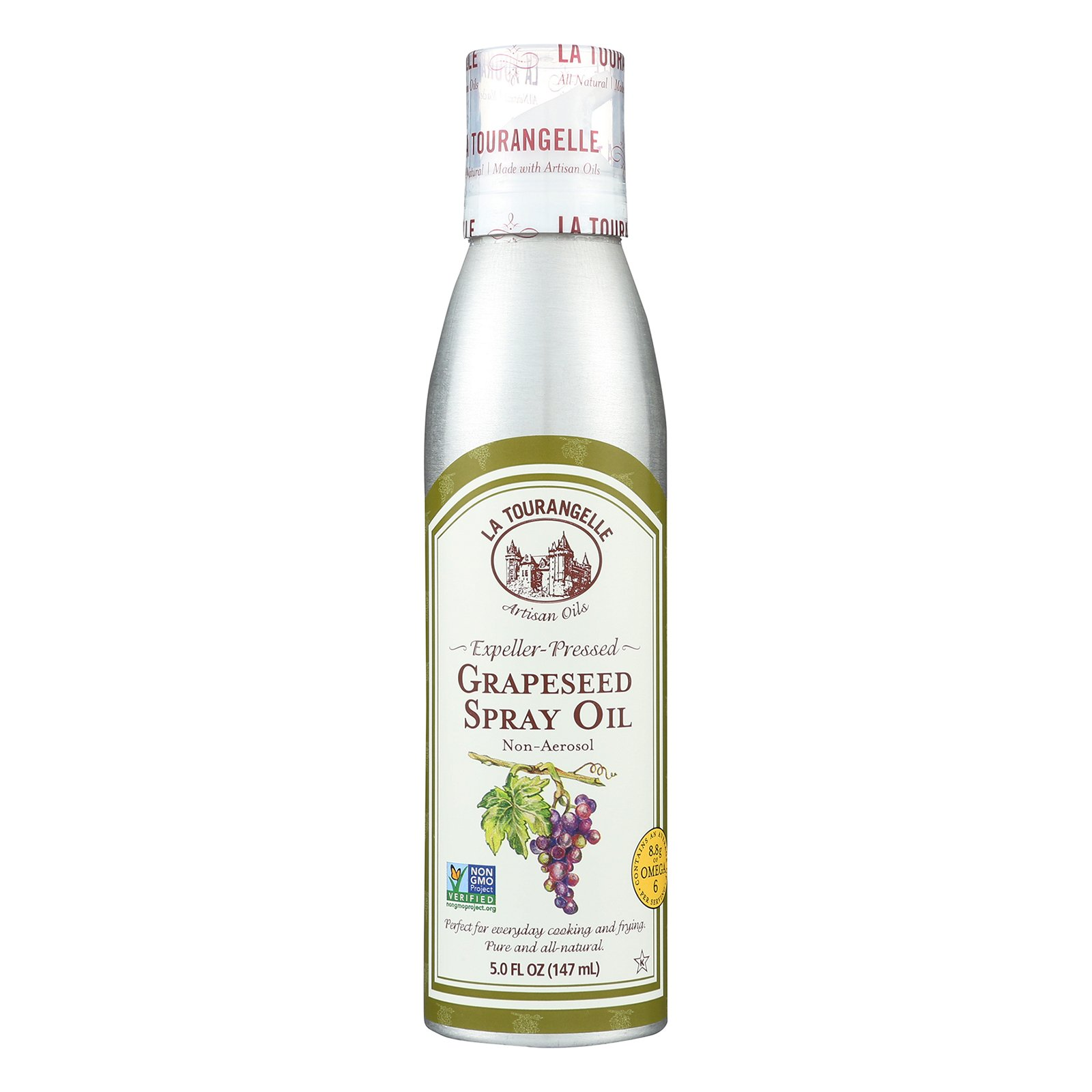 La Tourangelle Grapeseed Spray Oil - Case of 6 - 5 Fl oz.