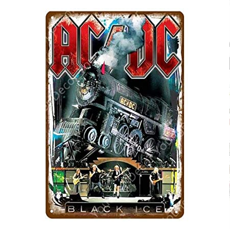 shovv Rock ACDC Band Vintage Metal Signs AC DC Music Club ...
