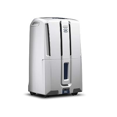 .com - De'Longhi 45 Pint Dehumidifier 24-Hour On/Off Timer, Energy Star 2.0, DDX45E, White -