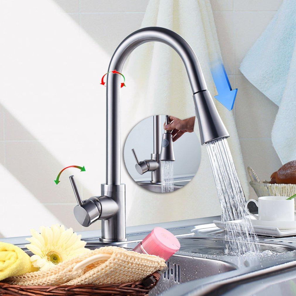 MICOE 360° Schwenkbar Einhebelmischer Küche Spültischarmatur mit ...