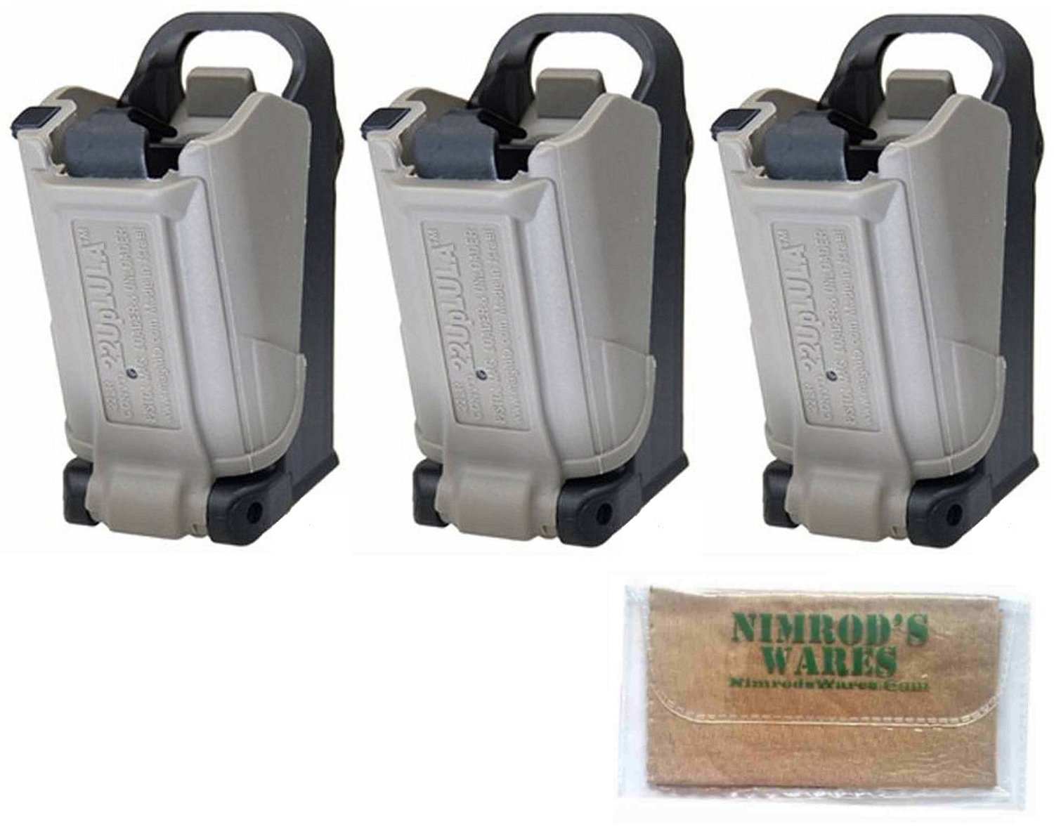 Nimrod's Wares 3-Pack Butler Creek 24224 LULA Loaders 22LR Wide-Body Double-Stack Mags Microfiber Cloth