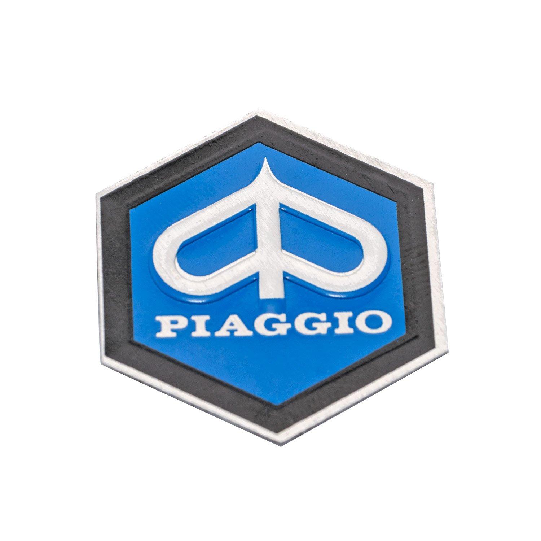 autoadesivo 31/X 36/mm /Alluminio Emblema PIAGGIO 6/della Cascata angolare per Vespa PX T5/ecc./