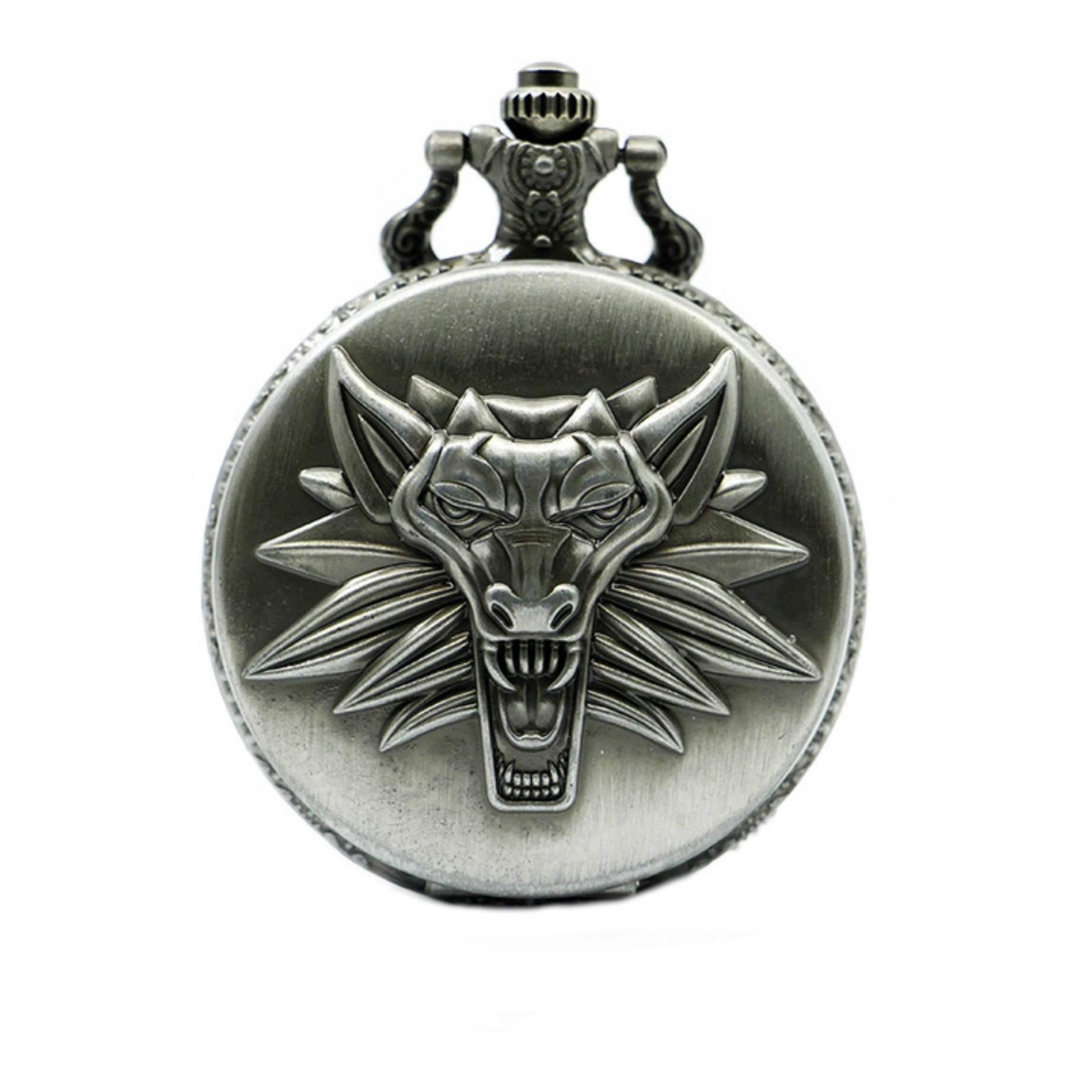 Witcher Wolf Necklace Pendant Watch Video Games Logo Cosplay by Athena Brands