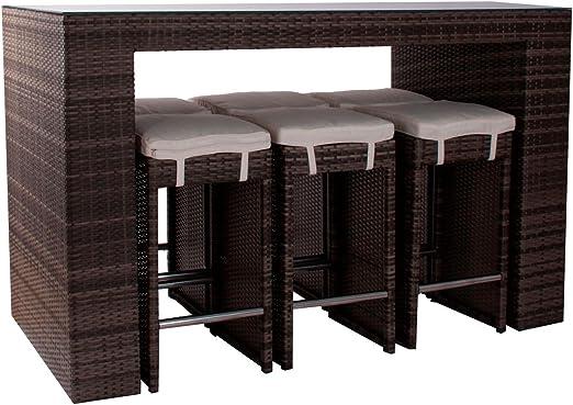 Conjunto Barra de Bar y taburetes para jardin - Decoracion Exterior Hogar Decora: Amazon.es: Jardín