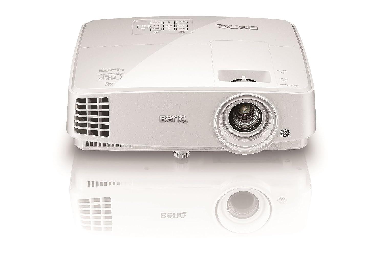 wei/ß BenQ MH530 FULL HD 3D DLP-Projektor Beamer mit 1920 x 1080 Pixel, Kontrast 10000:1, 3200 ANSI Lumen, HDMI, VGA