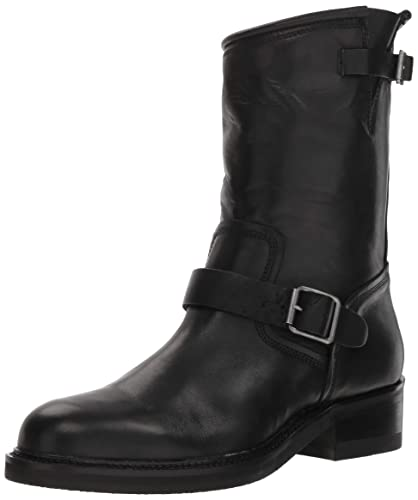 a6102bebd34 Steve Madden Men s SELF Made Madman Motorcycle Boot Black Leather 7 ...