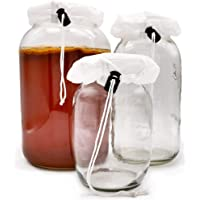 Kombucha Covers - Juego de 3 tapas de fermentación transpirables de alta calidad para preparar kombucha, se puede…