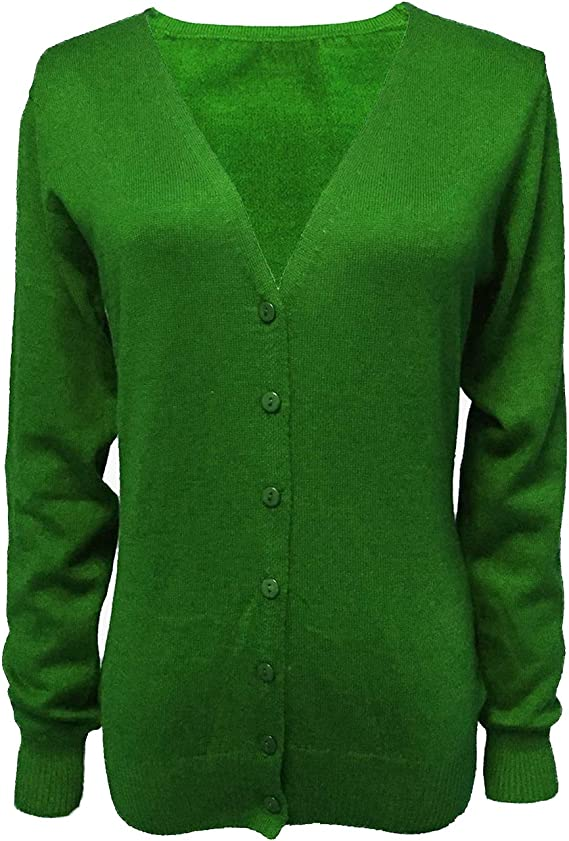 Cardigan - Jersey básico para mujer, cuello en V, de lana mezclada, fina y suave, talla S-XXXL