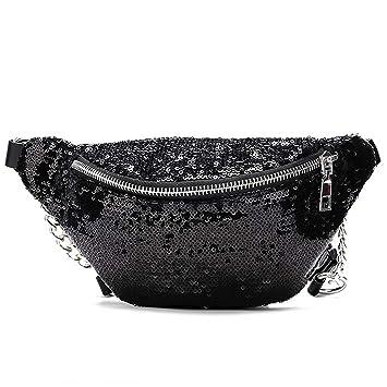 Amazon.com: Moda brillante diseño de piñón para mujer bolsa ...