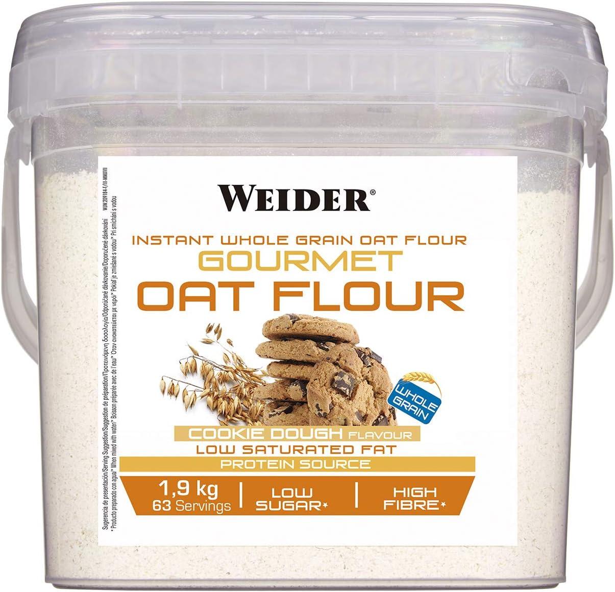 Weider Gourmet Oat Flour - 1,9 kg Cookie Dough: Amazon.es ...
