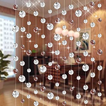 Generic 10 StringsEach 1 MeterCrystal Bead Curtain For Living Room Partition