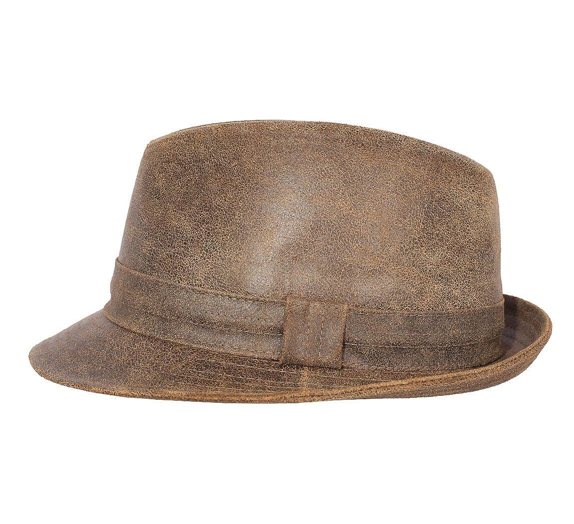 Classic Italy - Cappello Trilby Feltro Uomo Trilby Feltro di Lana Vieilli -  Size 58 cm - Marron  Amazon.it  Abbigliamento 82083d30eae3