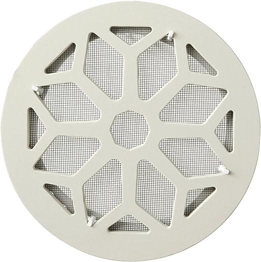 La ventilaci/ón cergrsbix Rejilla de ventilaci/ón cer/ámica gres, blanco, di/ámetro 200/mm