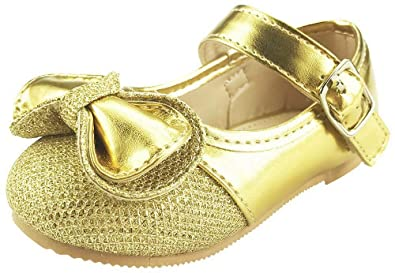 Amazon.com: La muñeca eléctrica color dorado Mary Jane: Shoes