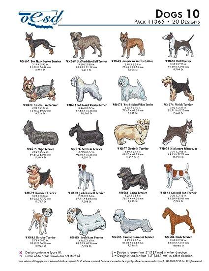 OESD Embroidery Machine Designs Dogs 10 #11365: Amazon ca: Home