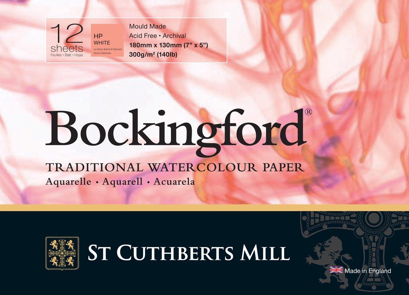 Bockingford Pad : GLUED : 5x7in : 140lb (300gsm) Hot Press : 12s R K Burt & Co Ltd