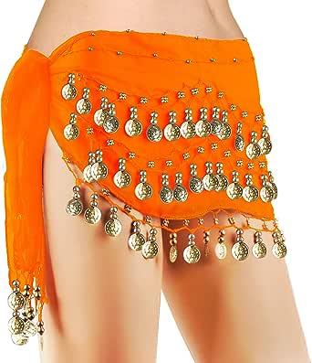 Adult Gold Red Gem Gypsy Arabian Belly Dance Chain Halloween Costume Headpiece