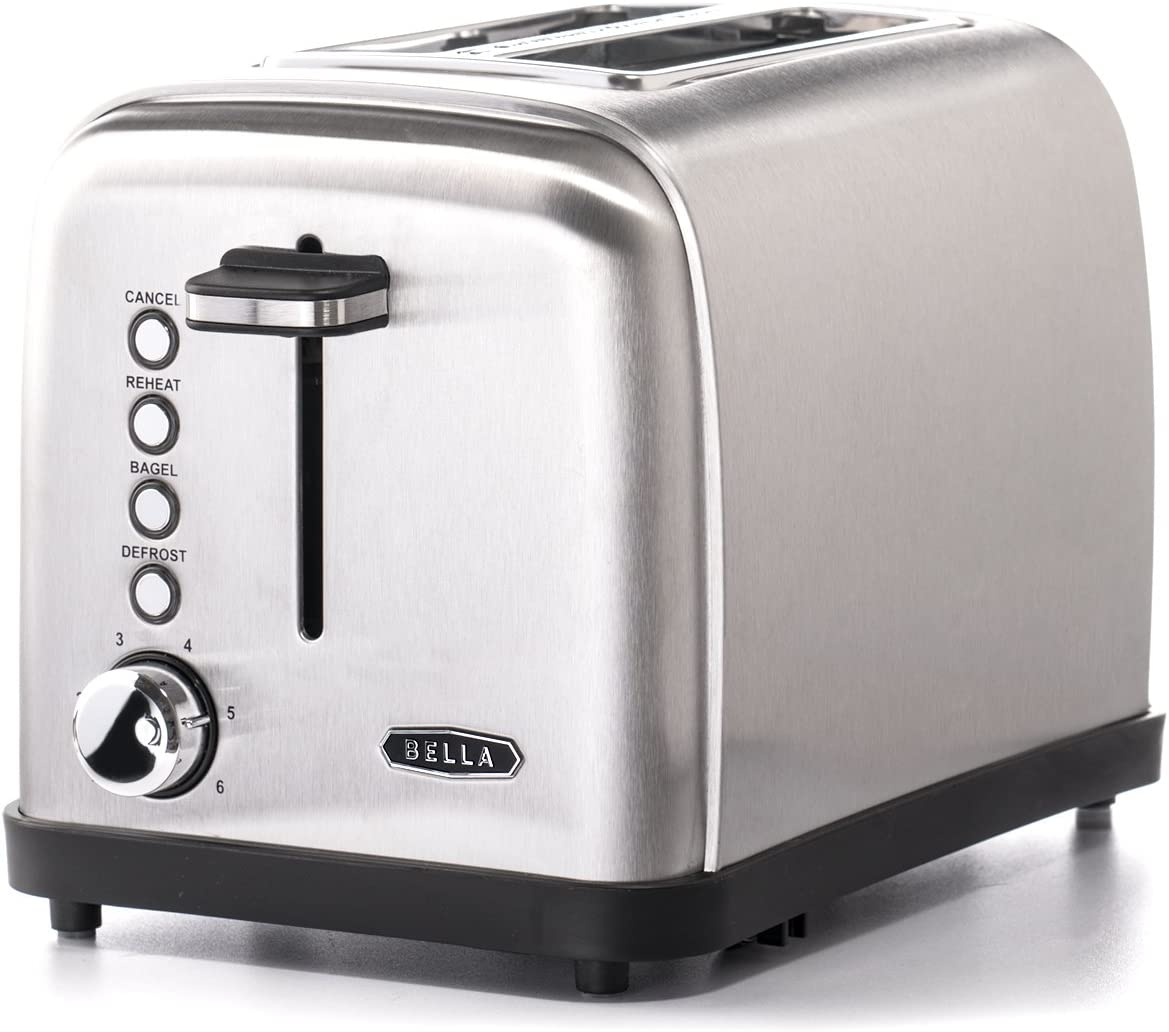 BELLA Classics 2-slice Stainless Steel Toaster