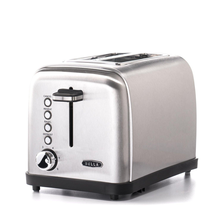 BELLA Classics 2-slice Stainless Steel Toaster