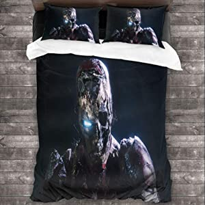 Loruoaine Three-Piece Family Bed Cover pillowcasezombie Iron Man in Spiderman far from Home 8yCover Bed 3pcs/Set