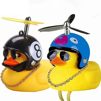 The Duck Light Bike Horn Bell Cartoon Helmet With Light Car Motorcycle Decor UK