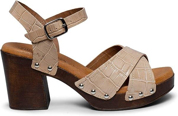 Ibiza- Sandalia de Madera Tierra cocodrilo: Amazon.es: Zapatos y complementos