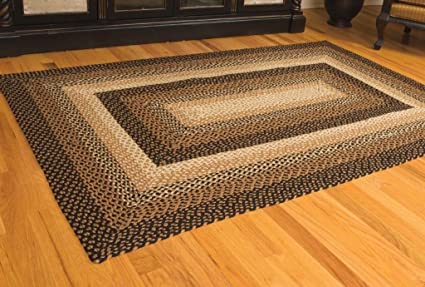 Amazoncom Ihf Home Decor Stallion Rectangle Jute Braided Area Rug