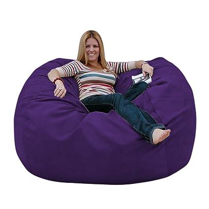 Wondrous Cozy Sack 5 Feet Bean Bag Chair Large Purple Evergreenethics Interior Chair Design Evergreenethicsorg