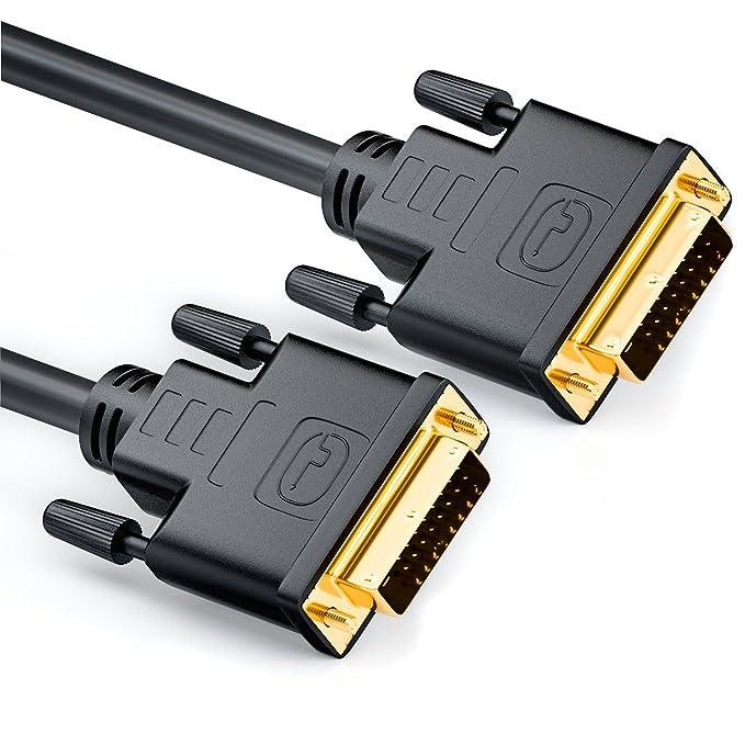 2 opinioni per deleyCON Cavo DVI 24+1 da 5m- DVI-D Dual Link- 1080p / Full HD / 3D Ready- Cavo