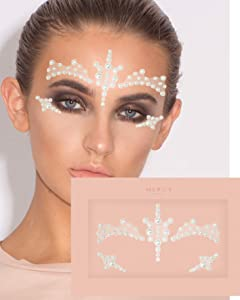 Carnival Pearl Face Jewels ✮ Mercy London Face Gems Jewels All In One Festival Headpiece Stick On