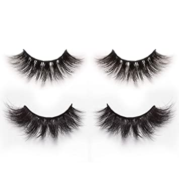 a06ae33bbba Alluring 3D & 4D Mink Fur False Eyelashes Pack of 2 Pairs,100% Natural Soft  Curl Genuine Siberian ...