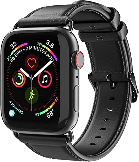 Aottom Correa de piel para Apple Watch Series 4 44mm, Correas Apple Watch 42mm Series 3 Piel,Correa iWatch 42mm Series 2 Series 1 correa de repuesto de Cuero 44mm Series 4: Amazon.es: Electrónica