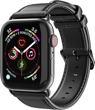 Aottom Correa de piel para Apple Watch Series 4 44mm, Correas Apple Watch 42mm Series 3 Piel,Correa iWatch 42mm Series 2 Series 1 correa de repuesto de Cuero 44mm Series 4: Amazon.es: Electrónica
