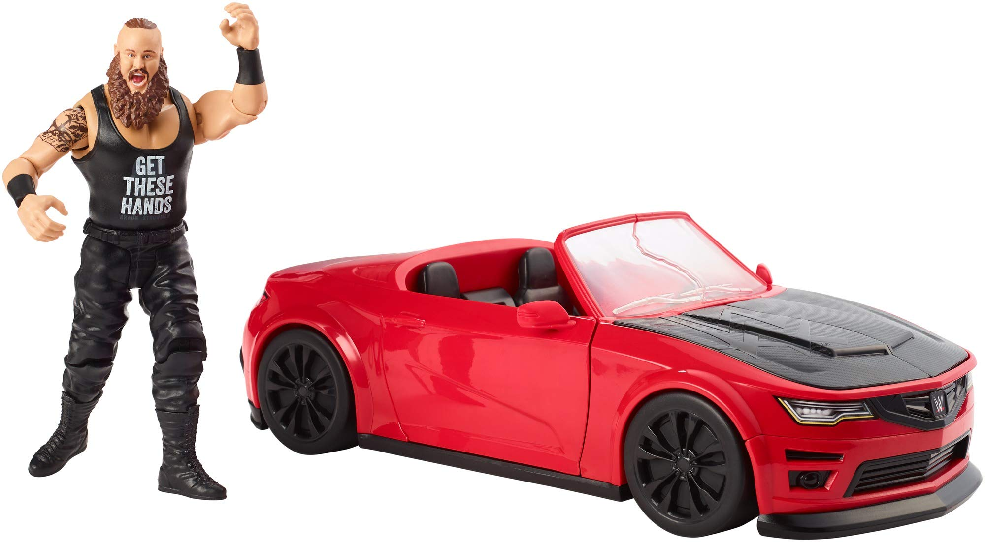 WWE Wrekkin' Slam Mobile Vehicle with 10 Breakaway Pieces (Easy Reassembly), Opening Doors, Opening Trunk (Stores Accessories) & Braun Strowman 6-inch Action Figure, Ages 8 and Older [Amazon Exclusive]