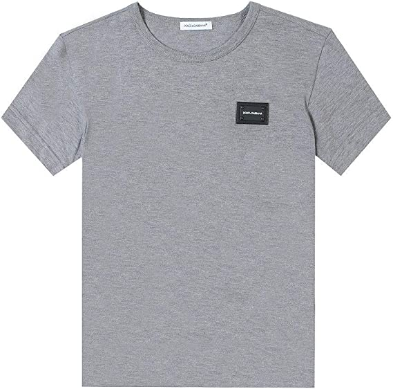 Dolce & Gabbana niños en Relieve Logotipo Camiseta Gris: Amazon.es: Ropa y accesorios