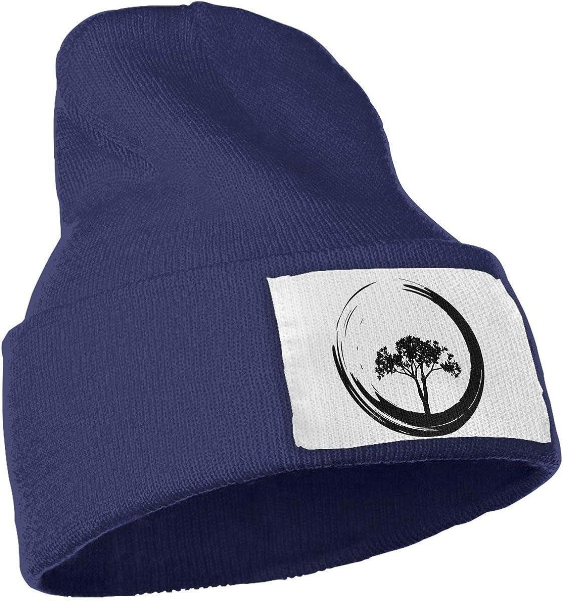 TAOMAP89 Tree and Zen Circle Men /& Women Skull Caps Winter Warm Stretchy Knitting Beanie Hats