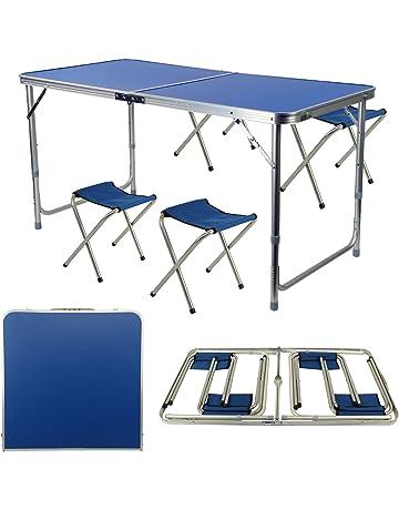 Alu Table de jardin Table de terrasse balcon table table à manger meubles de jardin table optique