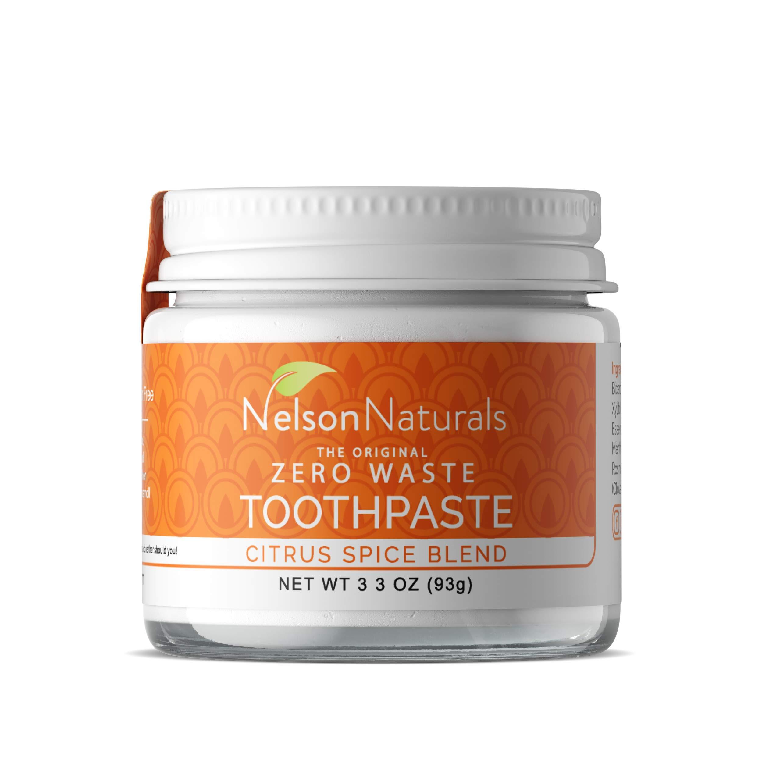 Nelson Naturals Citrus Spice Blend Fluoride Free Toothpaste 2 oz