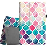 """Fintie Folio Case for All-New Amazon Fire HD 10 Tablet (7th Generation, 2017 Release) - Premium PU Leather Slim Fit Smart Stand Cover with Auto Wake/Sleep for Fire HD 10.1"""" Tablet, Moroccan Love"""