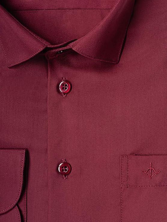 Stenser C24 - Camisa clásica para niño, Color Burdeos Rojo ...