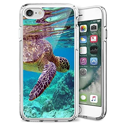 detailed look 5691b 2357c Sea Turtle iPhone 7 8 Case Clear, By Milostar Design TPU Clear Protective  Shock-Proof Cover, Case for iPhone 7 8 Sea Turtle