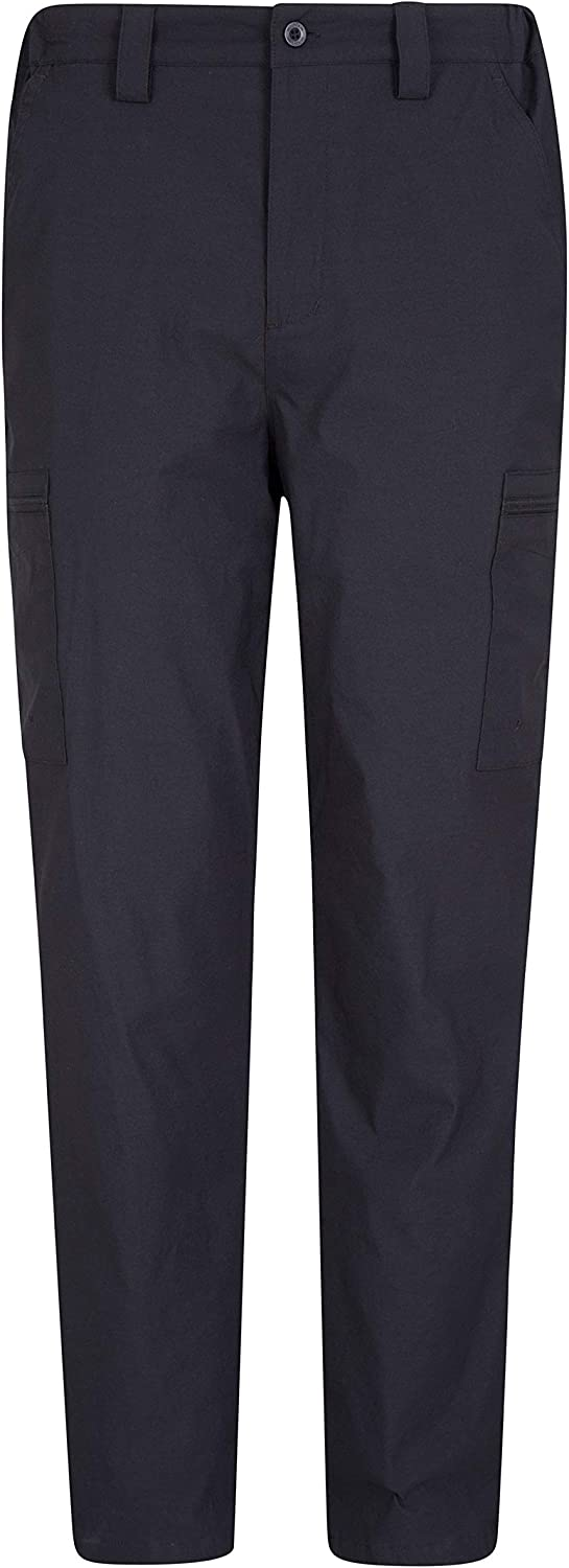 Adjustable Pants for Travelling Black 34W Good Fit Casual Bottoms Knee Zip Hiking Pants Mountain Warehouse Trek Mens Convertible Trousers Lightweight Winter Trousers