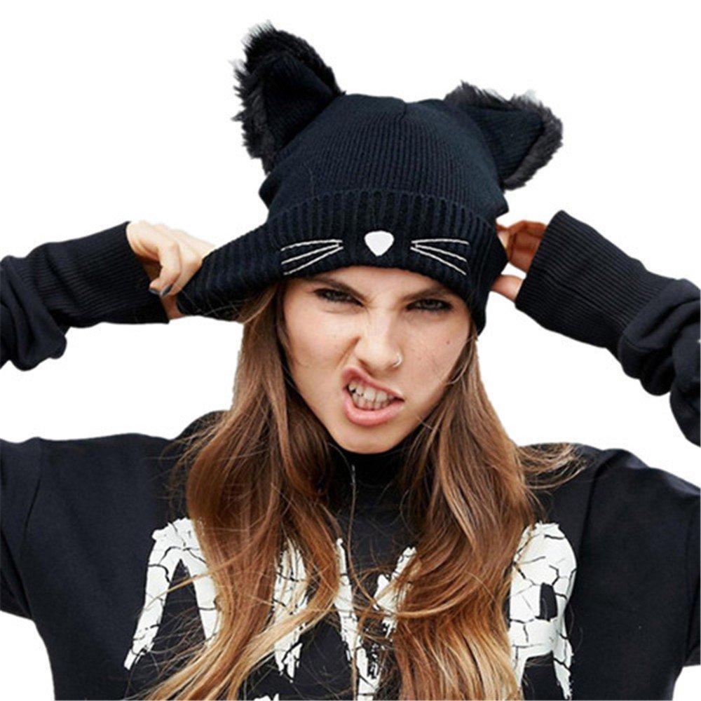 Amazon.com  Women Baggy Beanie Ladies Warm Crochet Winter Wool Knit Ski Hat  Skull Slouchy Caps  Sports   Outdoors 203499308e6b