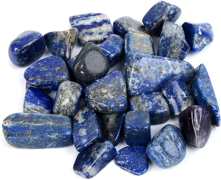 Lapis Lazuli healing HYPNOMADIC natural back lodgepole pinecone pendant