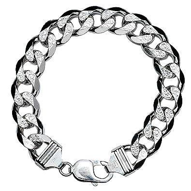 Amdxd Jewelry Men 925 Sterling Silver Bracelet Vintage Wide Chain